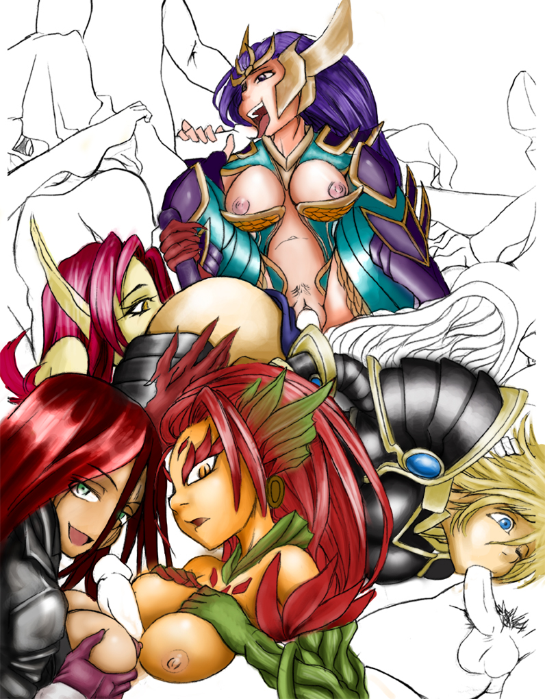 nude katarina legends of league Death march to the parallel world rhapsody lulu